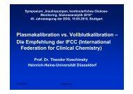 Plasmakalibration vs. Vollblutkalibration – Die Empfehlung der IFCC ...