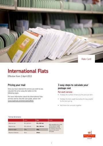 International Flats ratecard 2013 - Royal Mail