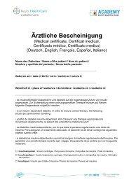 Ärztliche Bestätigung, PDF