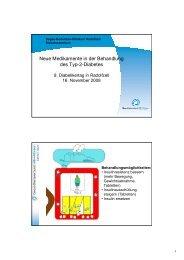 Neue Medikamente in der Behandlung des Typ-2-Diabetes ...