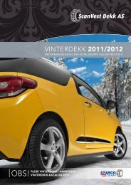 vinterdekk 2011/2012 - ScanVest Dekk AS