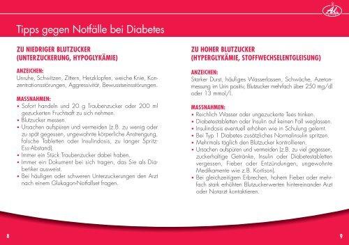 Diabetes-Tagebuch - Aliud Pharma GmbH & Co. KG