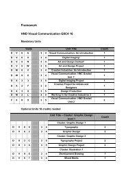 HND Visual Communication Framework