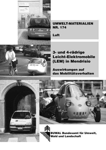 3- und 4-rädrige Leicht-Elektromobile (LEM) in ... - Bafu - admin.ch