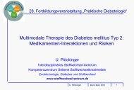 Medikamenteninteraktion - Interdisziplinäres Stoffwechsel-Centrum