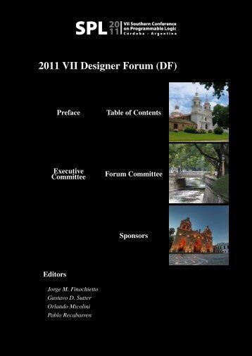 2011 VII Designer Forum (DF) - VIII Southern Programmable Logic ...