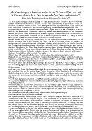 Verabreichung von Medikamenten in der Schule - VBE Sachsen ...