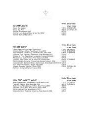 CHAMPAGNE WHITE WINE BIN END WHITE ... - St Stephen's Club