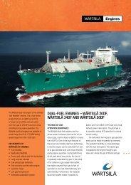 Wärtsilä Dual-Fuel Marine Engines