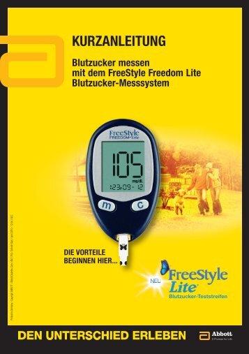 Freestyle Lite - Kurzanleitung - Tierdiabetes-shop