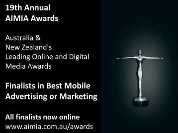 Finalists in Best Mobile Advertising or Marketing