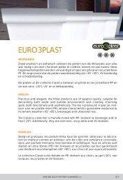 EURO3PLAST - Van der Gucht pottery en bamboo