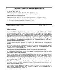 Protokoll der Mitgliederversammlung 2010