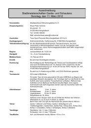 Ausschreibung Stadtmeisterschaften Garde- und Schautanz ...