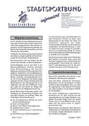 Mitgliederversammlung Jugendvollversammlung - Stadtsportbund ...