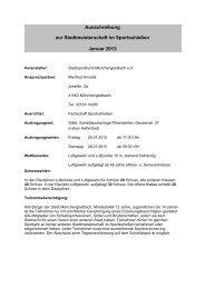 Ausschreibung zur Stadtmeisterschaft im Sportschießen Januar 2013