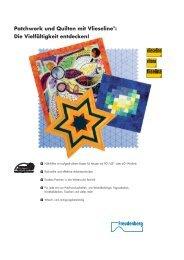 Patchwork und Quilten mit Vlieseline®: Die Vielfältigkeit entdecken!