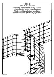 Montageanleitung Brüstungsgeländer - M-haditec