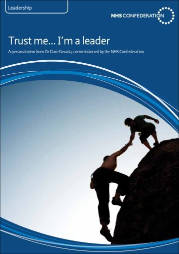 Trust me... I'm a leader