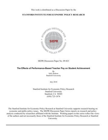 This work is distributed as a Discussion Paper - Center of ...