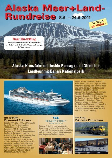 Alaska Meer+Land- Rundreise Alaska Meer+Land - ICS Internautic