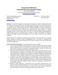 Comparative Methods in International and Comparative Politics