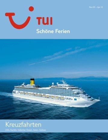 TUI - Kreuzfahrten - Winter 2009/2010 - TUI.at