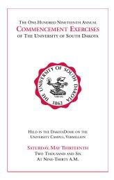 Commencement Exercises - University of South Dakota