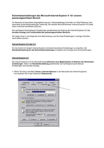 Sicherheitseinstellungen des Microsoft-Internet ... - Michael Berendes