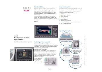 removal of tv video lock on audi navigation plus nordicaudi com rh yumpu com Audi RNS-E PU RNS-E Audi Navigation DVD
