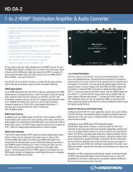 Product Specifications: HD-DA-2 - Crestron
