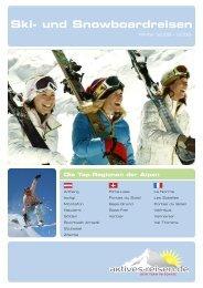 Ski- und Snowboardreisen - Aktives Reisen