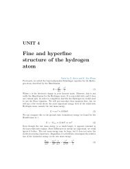 Fine and hyperfine structure of the hydrogen atom