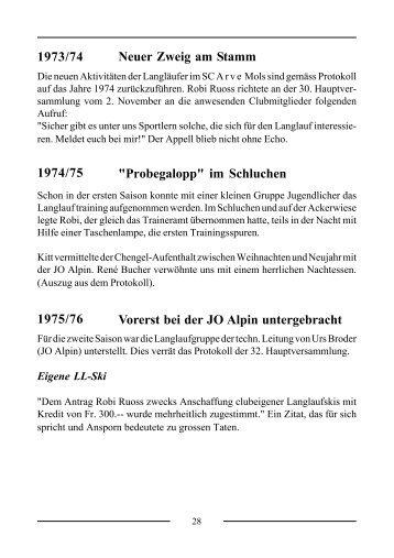 Geschichte Teil 2 - SC Arve-Mols