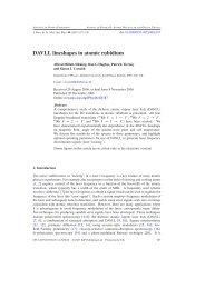 DAVLL lineshapes in atomic rubidium