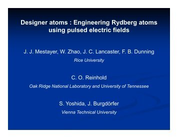 Designer atoms : Engineering Rydberg atoms using pulsed electric ...