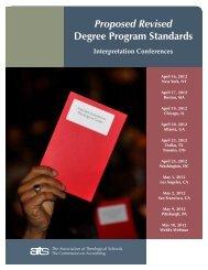 Proposed Revised Degree Program Standards - Association of ...