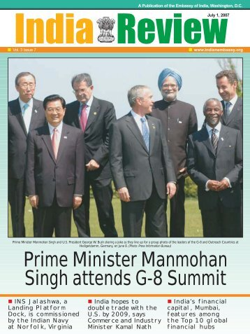Prime Minister Manmohan Singh attends G-8 ... - Embassy of India