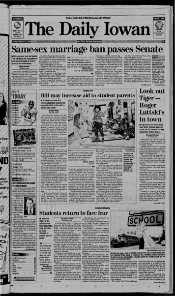 March 27 - The Daily Iowan Historic Newspapers - University of Iowa