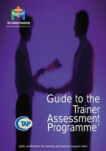 Guide to the Trainer Assessment Programme (Jan 04 - CEdMA