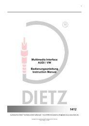 Multimedia Interface AUDI / VW Bedienungsanleitung Instruction ...