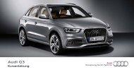 Kurzanleitung Q3 - Audi