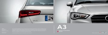 Katalog Audi A3 (PDF)