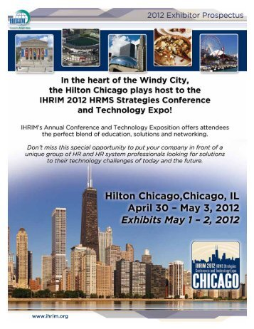 Download the IHRIM 2012 Exhibitor Prospectus