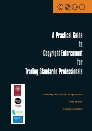 New powers for Trading Standards on copyright - Intellectual ...