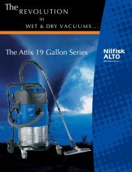 Nilfisk Vacuums Attix 19 Shop Vac - Johnson H2O