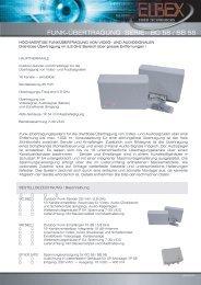 funk-übertragung serie bc 58 / bb 58 - ELBEX (Deutschland) GmbH