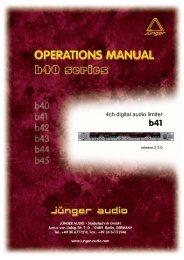 4ch digital audio limiter - Jünger Audio