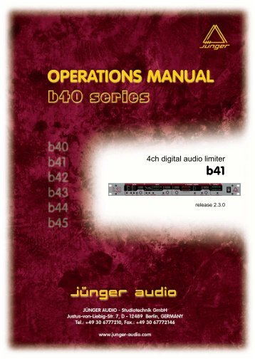 4ch digital audio limiter - Jünger Audio