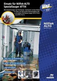 Einsatz für Nilfisk-ALTO SpezialSauger ATTIX